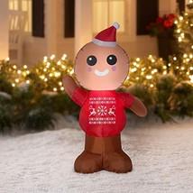 Gemmy Industries Airblown Inflatable Gingerbread Man 4 Feet Tall - $24.22