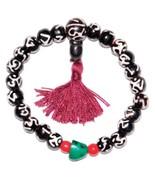 8MM Spiritual Bone Ohm OM Bracelet Stretch Reiki Chakra Healing - $11.11