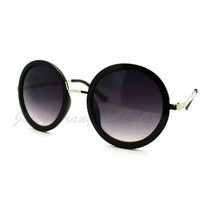 Women's Designer Retro Fashion Round Circle Sunglasses - $9.95