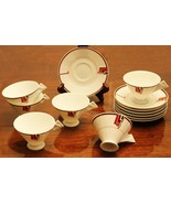 """Mikasa Fine China LAF03 """"Deco Expressions"""" Set Of 6 coffee cups & saucers - $55.00"""