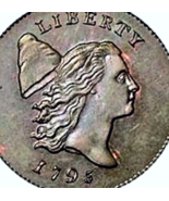 1795 Half Cent copper clone  bullion coin excellent refund guarantee - $3.95