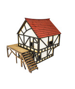 WWG Medieval MDF Fantasy Cottage (Painted/unpainted) - Wargaming Terrain... - $15.99+