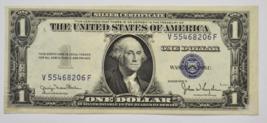 1935 D  $1 Silver Certificate One Dollar Note V55468206F AU Wide Back FR... - $14.84