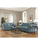Flash Furniture Signature Design by Ashley Darcy Living Room Set in Sky ... - $688.30