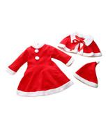 StylesILove 3-PC Santa Baby Girl Costume Dress, Cape and Hat - $24.99