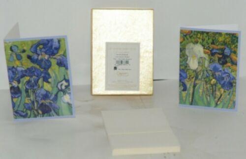 Caspari 87609 46 Van Gogh Irises 8 Assorted Boxed Notes With Envelopes