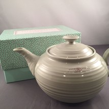 Portmeirion Sophie Conrad Light Fern Green / Sage 7 Cup Tea Pot ~ New In... - $19.99