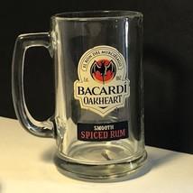 VINTAGE BARWARE BREWERIANA MUG GLASS STEIN CUP WINE LIQUOR BACARDI OAKHE... - $14.80
