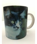 Vintage 90s Maine Coon Cat Coffee Mug Cup Photo by Barbara Augello1994 ... - $13.99