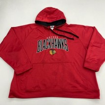 NFL Hoodie Mens 2XL XXL Red Drawstring Chicago Blackhawks Logo Kangaroo Pocket - $24.95