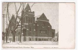 First M E Church Winnebago Minnesota 1910c postcard - $4.46