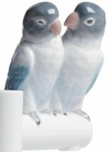 Lladro 01007851 Parrot Love Glased Porcelain Perfect Condition NEW - $544.50