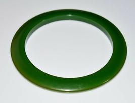 VTG Green BAKELITE TESTED Disc Disk Bangle Bracelet - $123.75