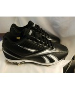 Reebok Mens Baseball Cleats Size 9 MLB PlayDry Black HexRide  - $11.83