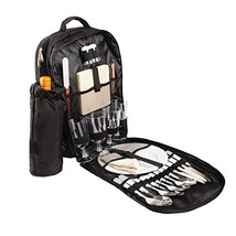 BRUBAKER Picnic Backpack Four Person with Removable Insulated Bottle Hol... - $51.07