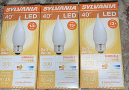 Sylvania 40W LED soft white indoor outdoor B 10 bulb, 3 Packs - $14.54