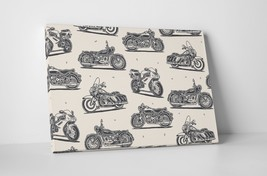 """Collage II Motorcycle Pop Art Gallery Wrapped Canvas Print. 30""""x20 or 20""""x16"""" - $42.52+"""