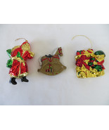 Set of 3 Christmas Plastic Ornaments - $5.89