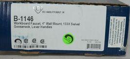 T S Workboard Faucet 4 Inch Wall Mount Swivel Gooseneck Lever Handles image 3