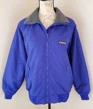 Lands End Size Small Purple Squall Jacket Coat Fleece Lined Multi Pocket... - $47.49