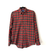 Pendleton Country Traditionals S Red Green Tartan Plaid Flannel Button Down - $54.45