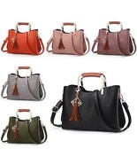 BDF Retro Women Luxury Handbag Tassel Sequined Messenger Bag Tote Solid ... - $45.65