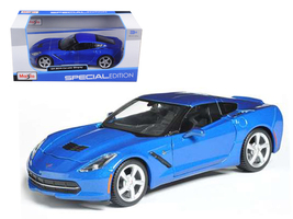 2014 Chevrolet Corvette C7 Coupe Blue 1/24 Diecast Model Car by Maisto - $50.99