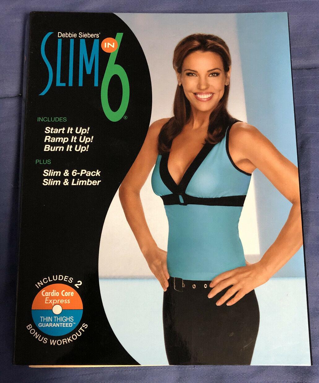 Debbie Siebers Slim in 6 Slim Training Workout - 3 DVD - 2010 Beachbody® - $8.90