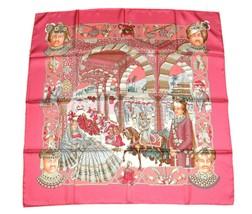 Hermes Scarf Splendeur des Maharajas Silk 90 cm Pink Carre Shawl Stole - £268.75 GBP