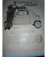 Vintage Kimble Glass Company TV Picture Tube Print Magazine Advertisemen... - $3.99