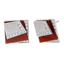 Salavetti 18K White Gold & 0.3 Cttw Diamonds Art Deco Women's Earrings - $1,995.00