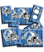 DETROIT LIONS FOOTBALL TEAM LIGHT SWITCH OUTLET WALL PLATE COVER ROOM HO... - $8.09+