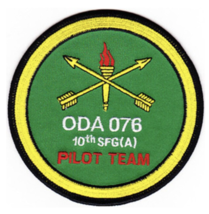 """4.25"""" ARMY SFG ODA-076 EMBROIDERED PATCH - $17.14"""