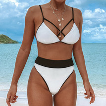CUPSHE White Triangle Bikini Set Swimsuit Swimwear Beach Bathing Suit Bi... - $26.09