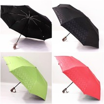 Automatic Folding Umbrella Mcqueen Skull Head Handle Black Coating Anti ... - $37.99