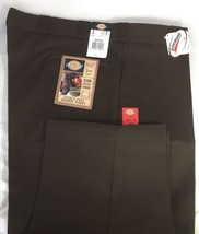 New Dickies Men Double Knee Work Pants 50x32 Multi Use Pocket Scotchgard Brown - $28.67