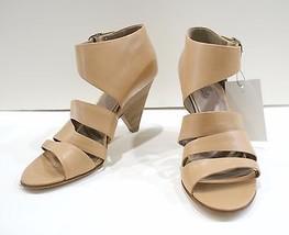 MORRISON 10 Belle SIGERSON Open Strappy 200 Sandals Beige Wedge Heels Sz Toe FRqRZ1w