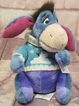 "Disney Store Sweater Eeyore Winnie Pooh Snowflake 12"" Plush Christmas Ho... - $11.35"