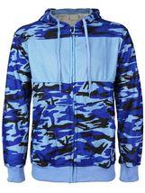 Men's Cotton Blend Zip Up Drawstring Fleece Lined Sport Gym Sweater Hoodie image 14