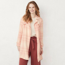 New LC Lauren Conrad Women's Cropped Trench Jacket Size XXL - $59.39