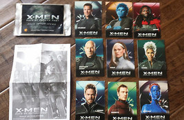2014 CARLS JR MARVEL X-MEN DAYS OF FUTURE PAST MOVIE 9 CARD COMPLETE PRO... - $24.74