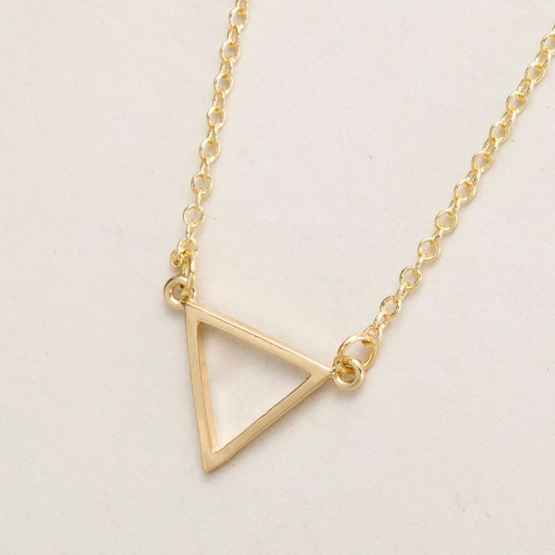 Shuangshuo 2017 Ethnic Unique Accessories Simple Triangle Pendant Necklace Geome