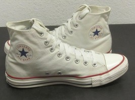 CONVERSE CHUCK TAYLOR CLASSIC WHITE HIGH TOP SNEAKERS UNISEX MENS 9  WO'... - $47.69