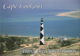 Cape Lookout Southernmost Lighthouse Outer Banks North Carolina Unused P... - $14.50