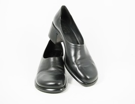 Franco Serta Flex Women's Shoes Black Leather Classic Pumps 10 M - €31,15 EUR