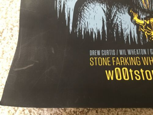 Stone Farking Wheaton Woot Stout Used Poster craft beer brewery brewing image 3