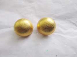 Joan Rivers Dome Clip On Earrings. Retired QVC  - $13.00