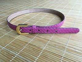 Pre-Owned Women's PNK Pierre Cardin Gen Snakeskin & Cowhide Lined Belt M - $32.43