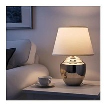 "IKEA RICKARUM Table lamp, White shade, SIZE 19"", 3 different colors - $62.99"