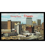 Denver Skyline Postcard Colorado Howdy From Denver CO PC - $14.99